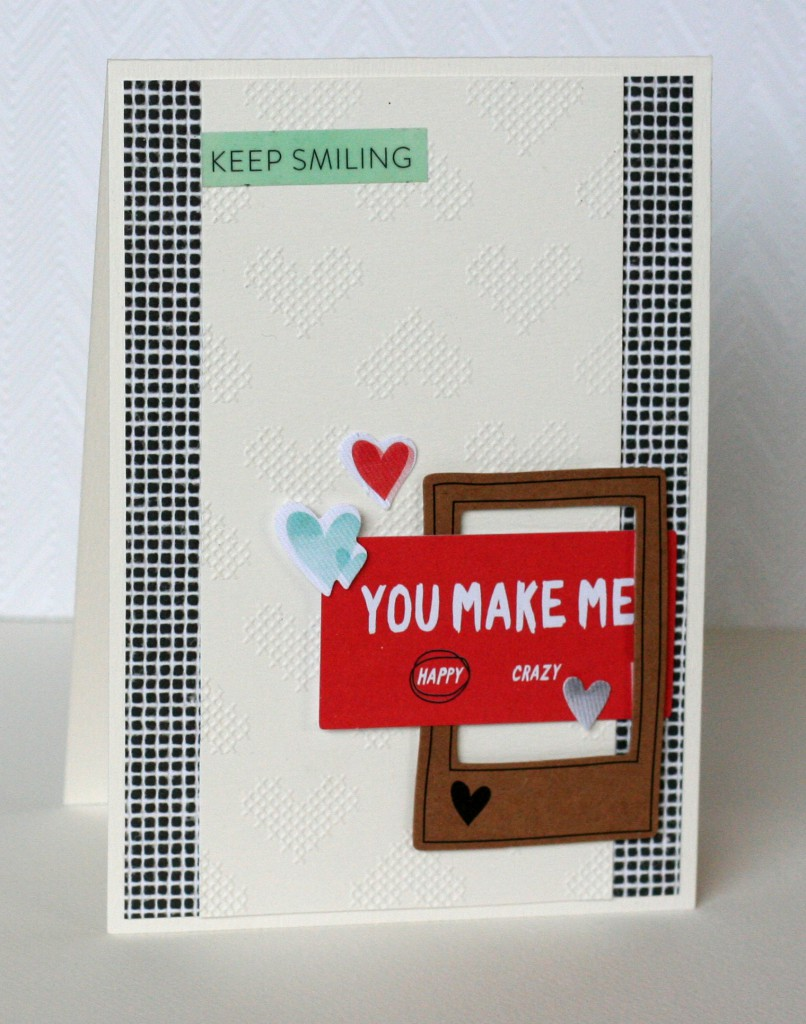 Stitched amy tan card